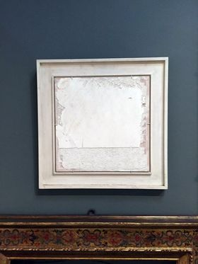 Antique Flat White Fresco Painting Frame